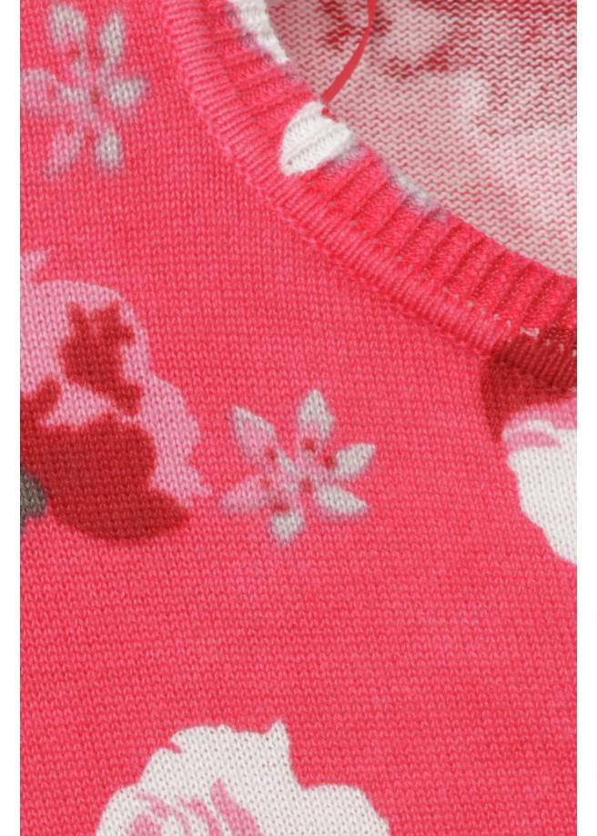 Pullover mit Rosen-Muster /