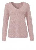 Pullover mit weitem V-Ausschnitt /