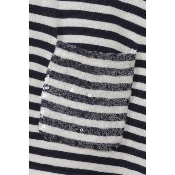 Strickjacke mit Ringel-Muster /