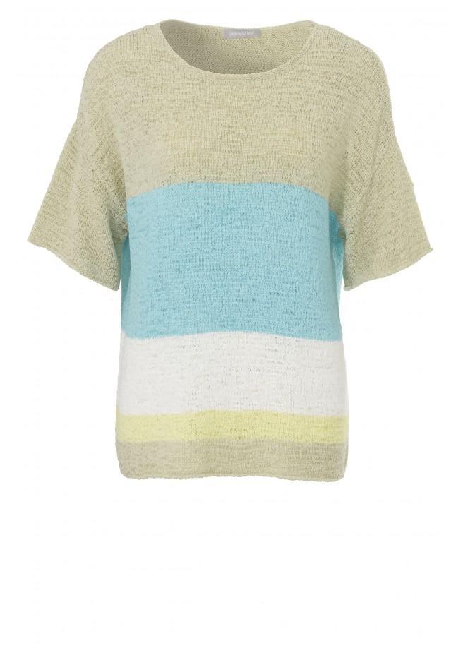 Ringel-Pullover mit weiten Ärmeln /