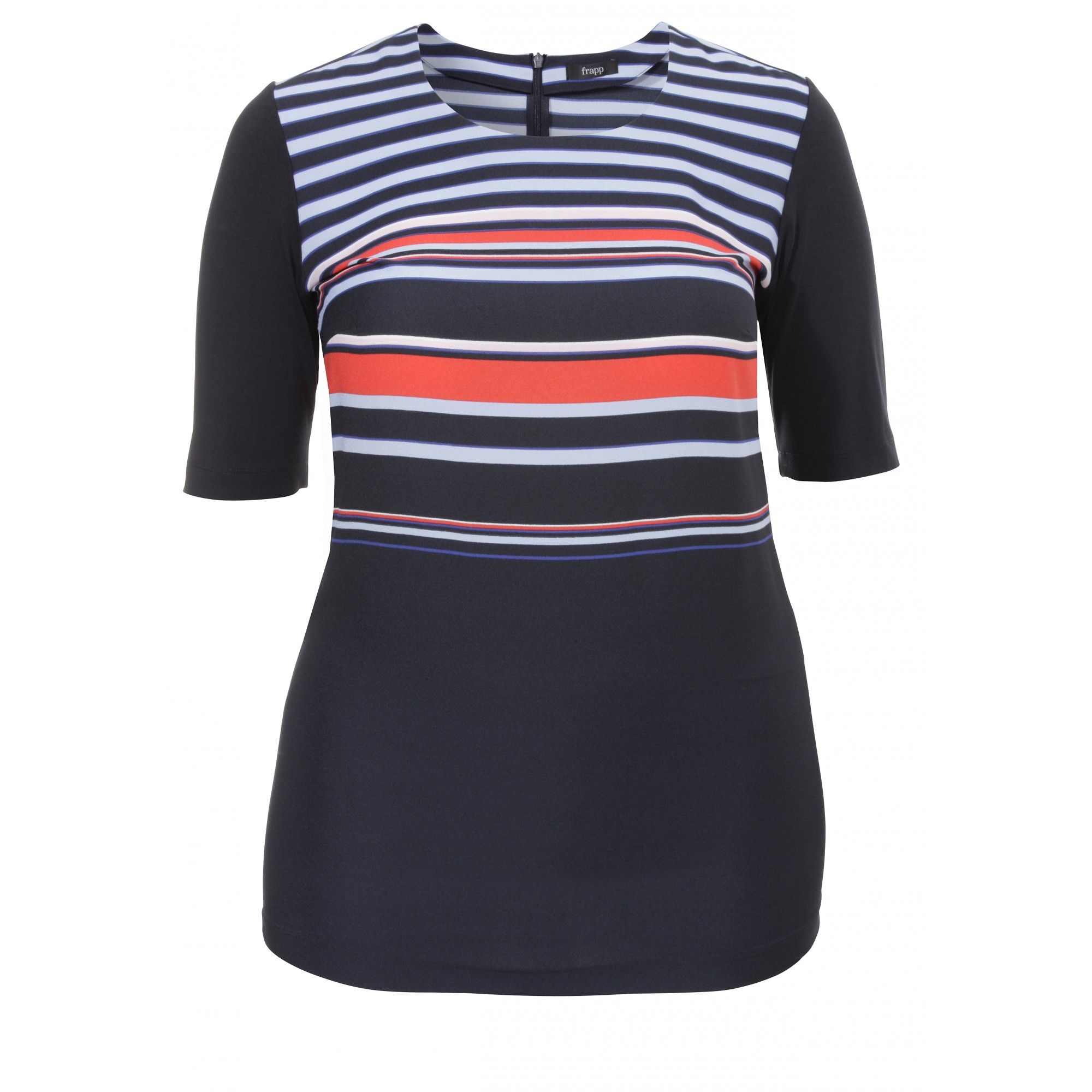 Extralanges Blusen-Shirt / Tunika Modern Navy