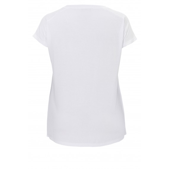 Fließendes T-Shirt mit Brusttasche /
