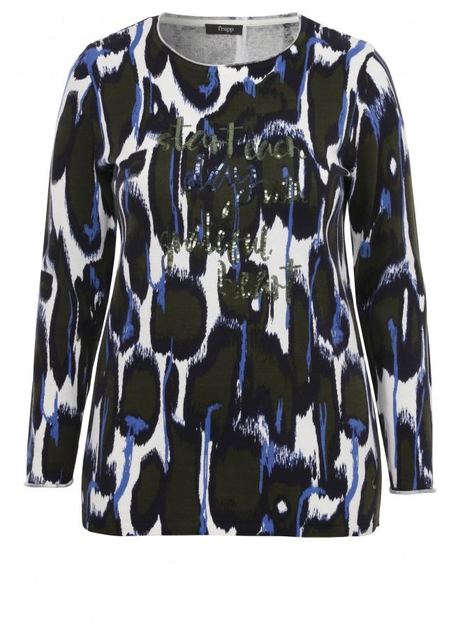 Modischer Pullover mit Muster /