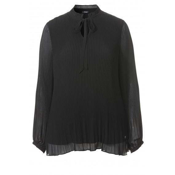 Romantische Bluse mit Plissees /