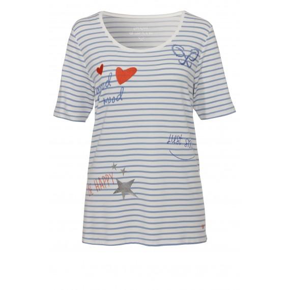 Maritimes Shirt mit Verzierungen /