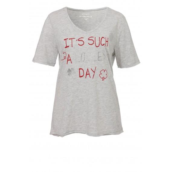 Lässiges Statement-Shirt mit Glitzerdruck /