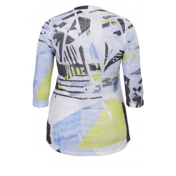 """frapp Zartes Leinen-Long-Shirt """"Blue Spirit"""" /"""
