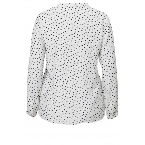 Bedruckte Bluse mit Stehkragen /