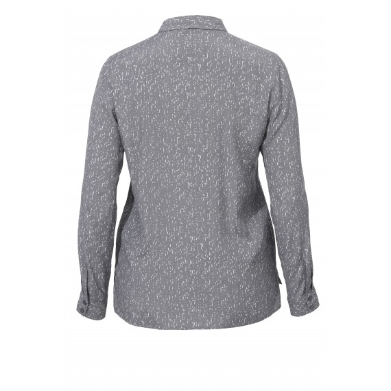 Hemdkragen-Bluse mit Print-Muster /