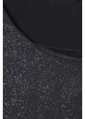 Glitzerndes Shirt im Materialmix /