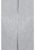 Schimmernde Blouson-Jacke mit Materialstruktur /
