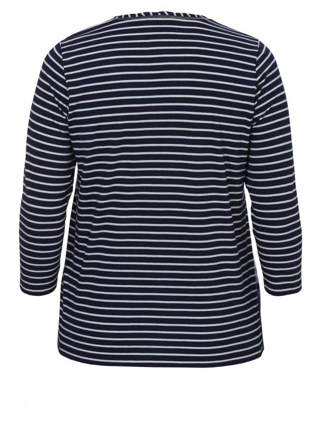Lässiges Ringel-Shirt mit Motivdruck /