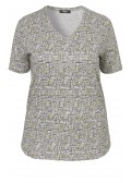 Glänzendes Shirt mit grafischem Muster /