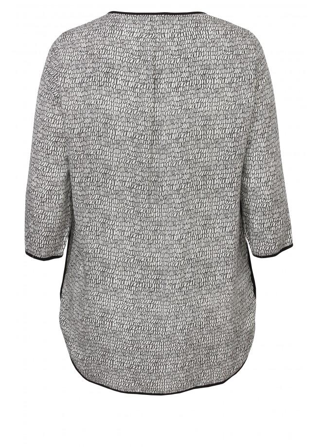 Luftiges Blusen-Shirt mit Muster /