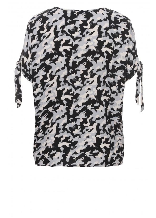 Lässiges Blusen-Shirt mit Camouflage-Muster /