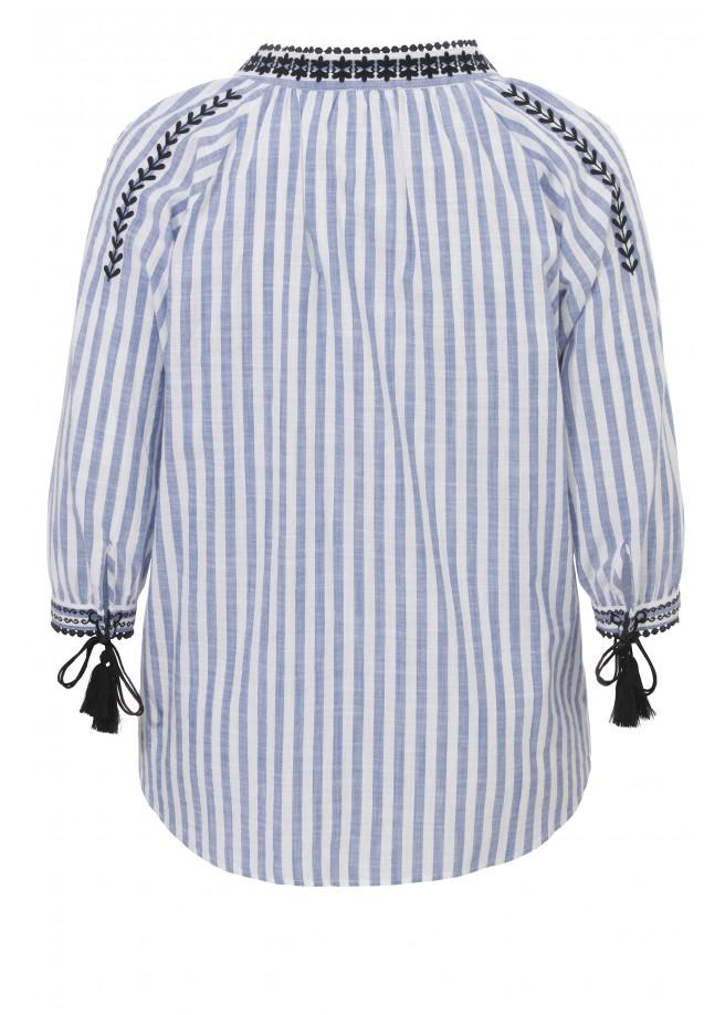 Verspieltes Blusen-Shirt mit Stickerei /