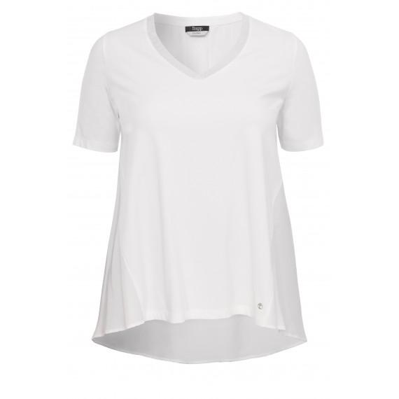 Feminines T-Shirt mit asymmetrischem Saum /