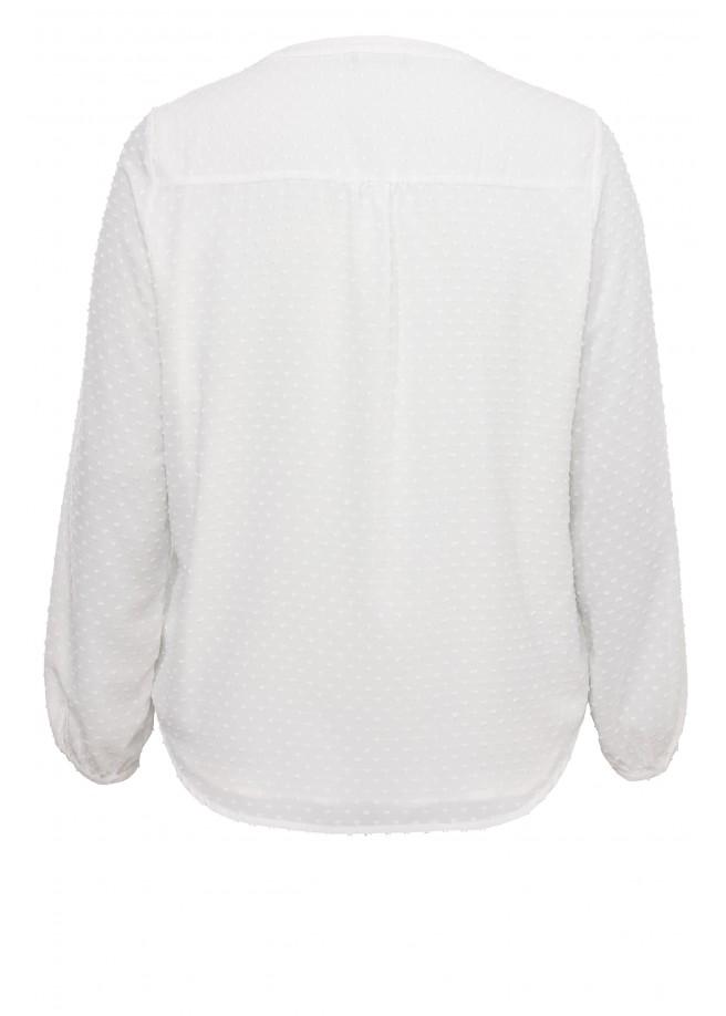 Zartes Blusen-Shirt mit Strukturmuster /