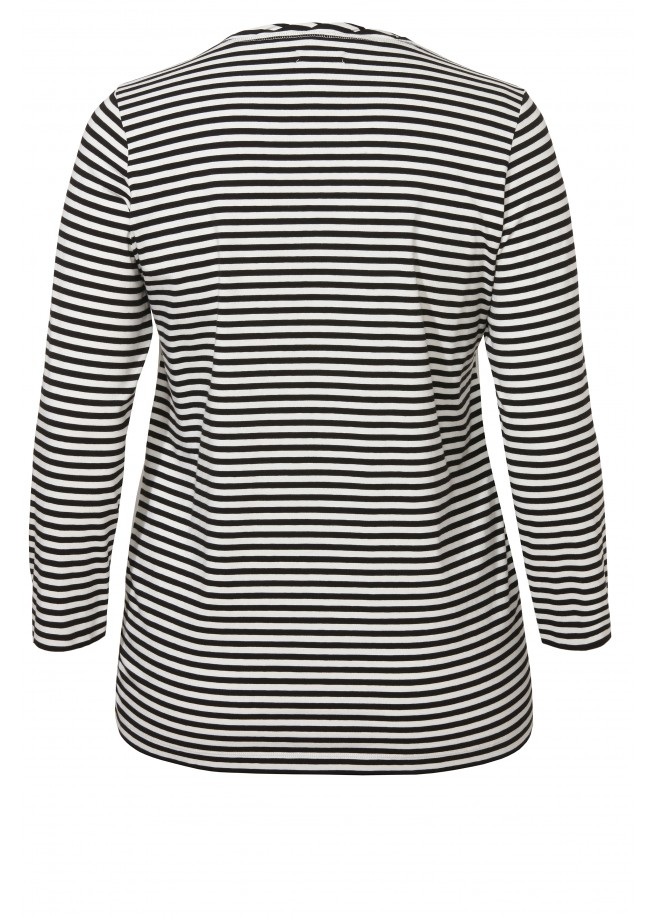 Raffiniertes Shirt mit seidiger Print-Front /