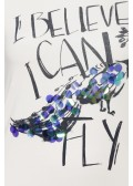 "Verspieltes Shirt ""I believe I can fly"" /"