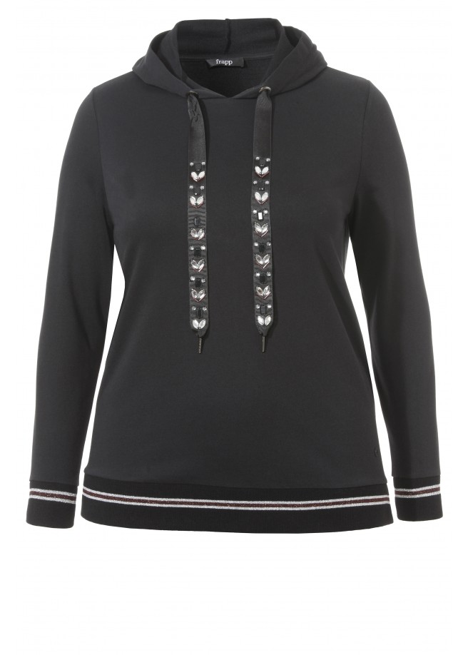 Feminines Sweatshirt mit Ziersteinen /