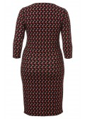 Feminines Kleid mit auffälligem Muster /