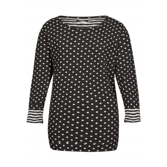 Raffiniertes Wende-Shirt mit Jacquard-Muster /