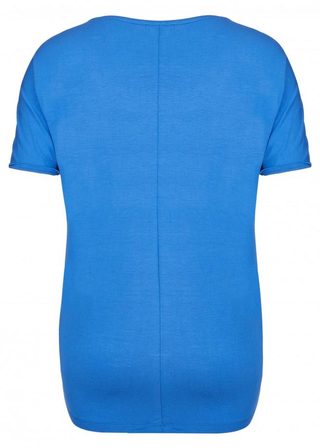 Auffälliges T-Shirt mit Materialmix /
