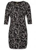 Einzigartiges Kleid mit Allover-Muster /