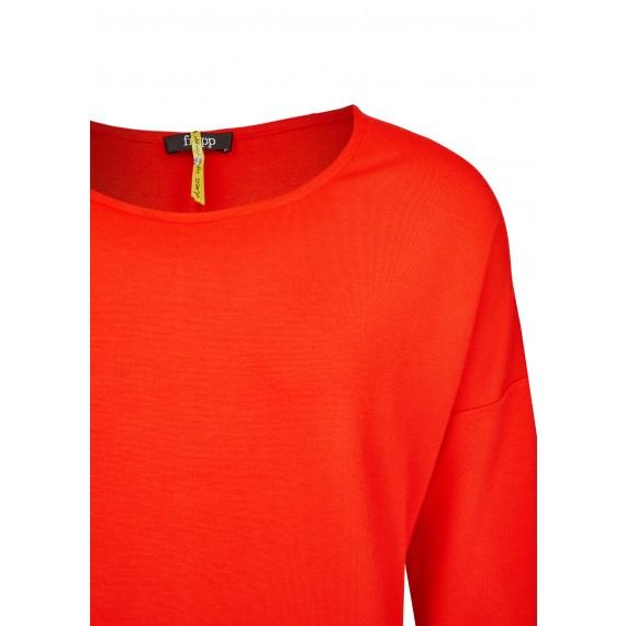 Lockeres Kleid mit überschnittenen Schultern /