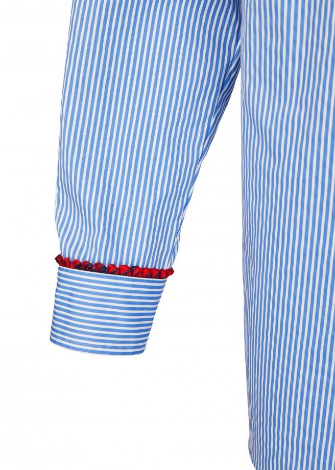 Lässige Bluse mit Allover-Streifen /