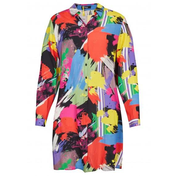Lässiges Kleid mit Hemdkragen /
