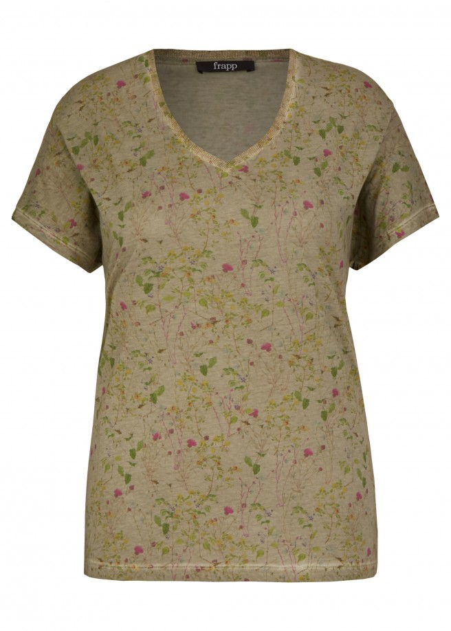 Fröhliches T-Shirt mit Blumen-Print /