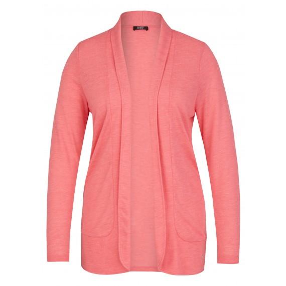 Einfarbige Jacke mit offenem Schnitt /