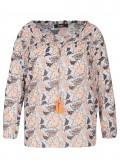 Verspielte Bluse mit floralem Print /