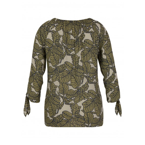 Romantische Carmen-Bluse mit Muster-Mix /