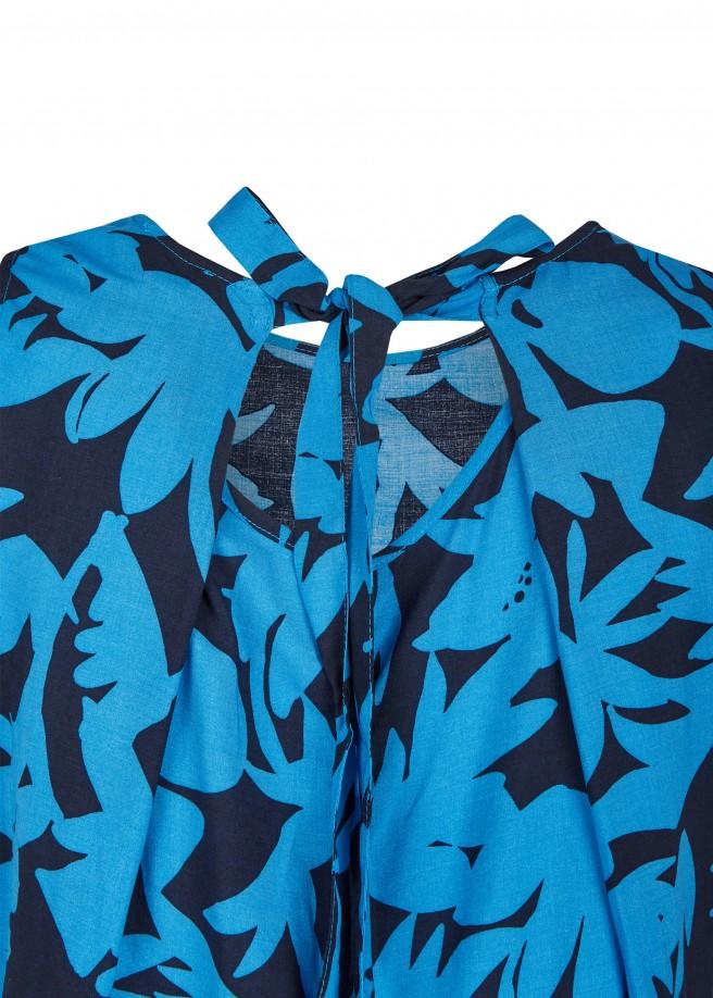 Raffinierte Print-Bluse mit Rückenausschnitt /
