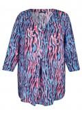 Aufregende Viskose-Bluse mit Allover-Muster /