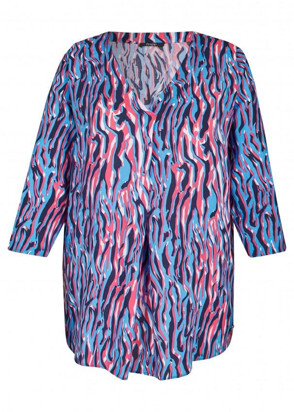 bb85d30476 Aufregende Viskose-Bluse mit Allover-Muster blue water multicolo  Frontansicht