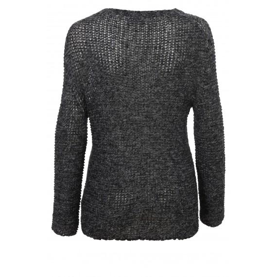 Rundhals-Pullover mit Raglan-Ärmeln /