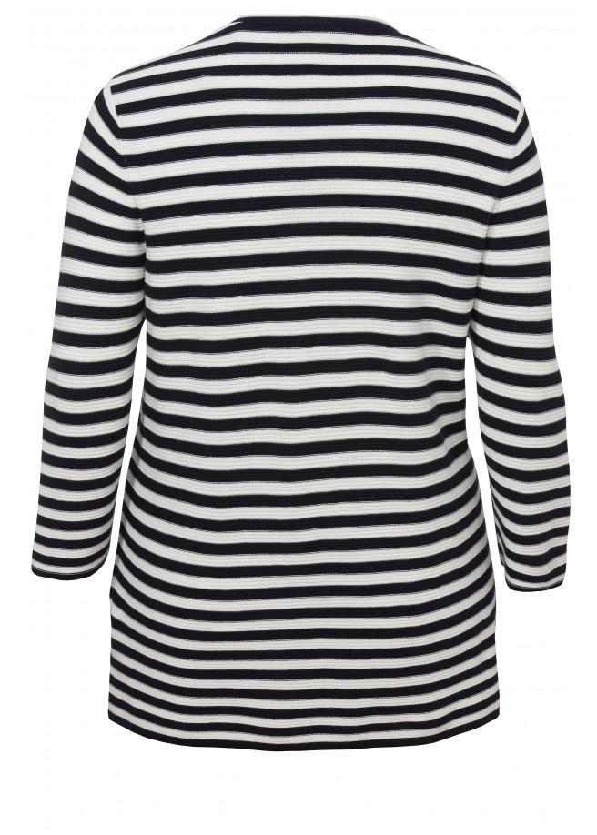 Leichter Pullover mit Streifenmuster /
