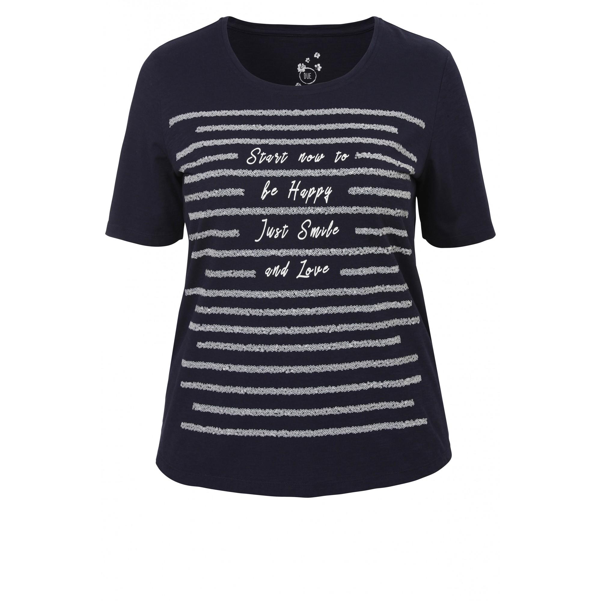 Statement-Shirt mit Pailletten