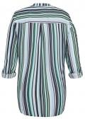 Fließende Bluse mit Streifen-Muster /