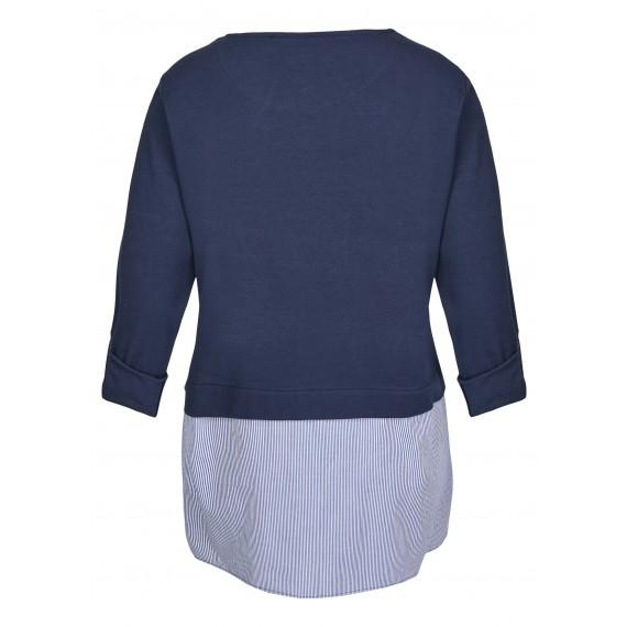 Femininer Pullover mit weiten Saumschlitzen /