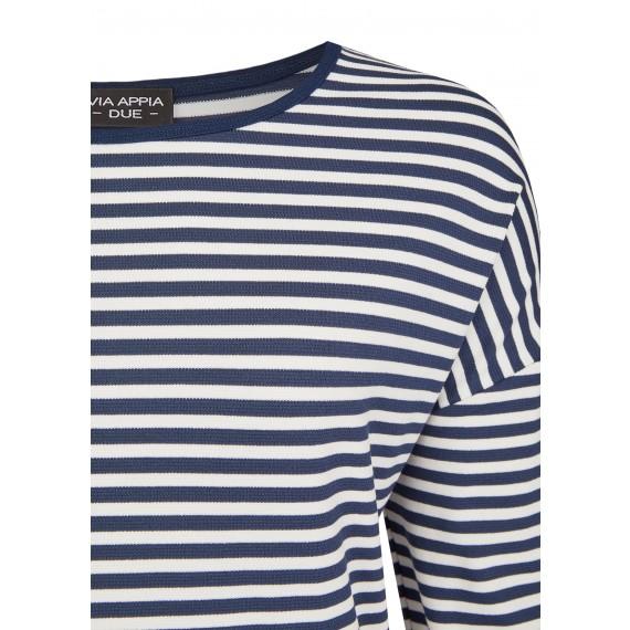 Raffinierter Pullover mit Ringel-Muster /