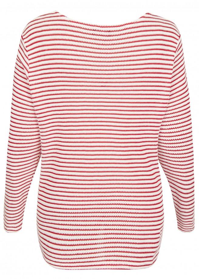 Femininer Pullover mit Ringel-Muster /