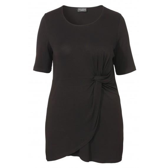 Elegante Shirt-Tunika mit Raffung /
