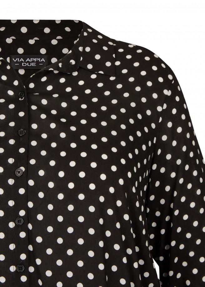 Moderne Bluse mit Punkten /