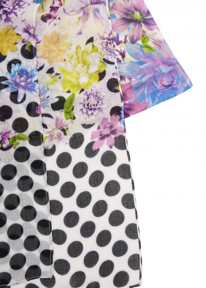Moderner Schal mit Muster-Mix /