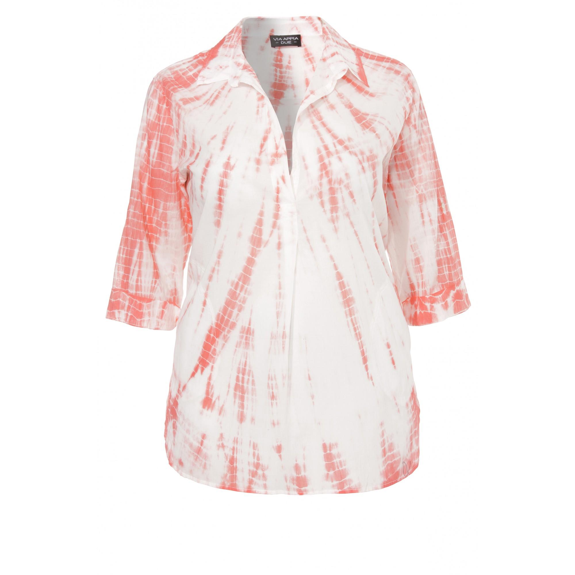 Extralange Sommer-Bluse in A-Form /Happy Batik